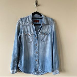 7 For All Mankind-Chambray Two Tone Button Down